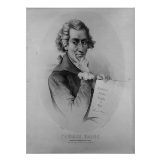THOMAS PAINE Lithograph by Peter Kramer Poster