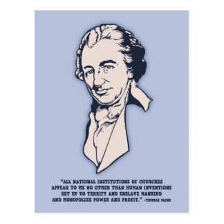 Thomas Paine - Mega-Churches Postcard