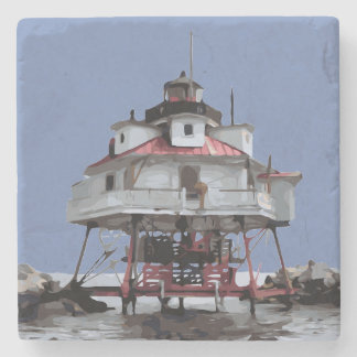 THOMAS POINT LIGHT STONE COASTER