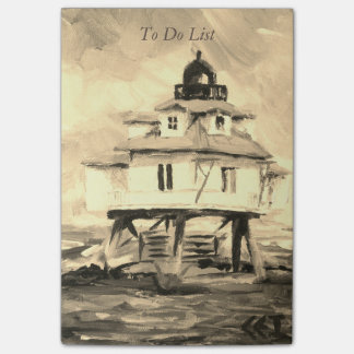 Thomas Point Lighthouse Sepia Post-it Notes