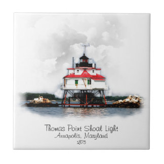 Thomas Point Shoal Light Tile