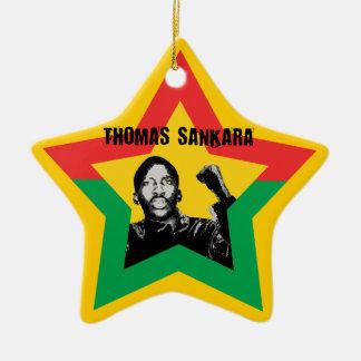 Thomas Sankara Burkina Fasso star Xmas ornamentati Ceramic Ornament