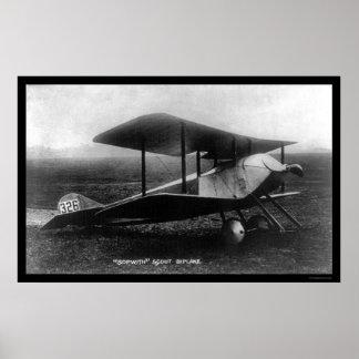 Thomas Sopwith's Scout Biplane 1919 Poster
