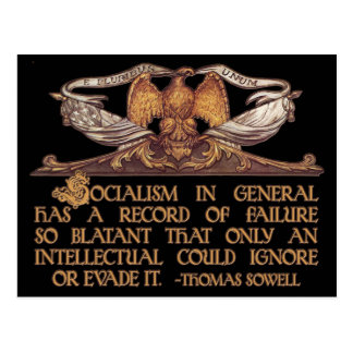 Thomas Sowell Quote on Socialism Post Card