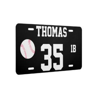 Thomas Template 35 Baseball Novelty License Plate