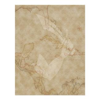 Thomas Tew Map # 14 Letterhead