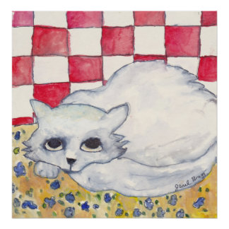 Thomas the Cat in Watercolor Poster