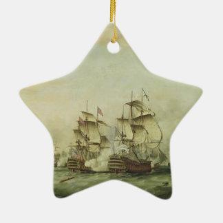Thomas Whitcombe - The Battle of the Saints Ceramic Star Ornament