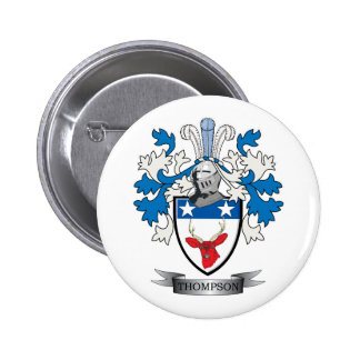 Thompson Family Crest Coat of Arms 2 Inch Round Button