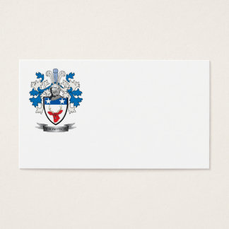 Thompson Family Crest Coat of Arms Business Card