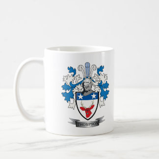 Thompson Family Crest Coat of Arms Coffee Mug