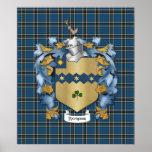 Thompson Family (Irish) Coat of Arms Poster