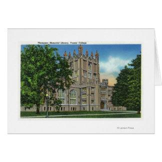 Thompson Memorial Library, Vassar College Card
