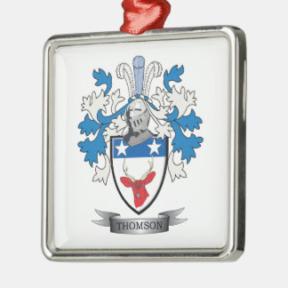 Thomson Family Crest Coat of Arms Metal Ornament