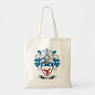 Thomson Family Crest Coat of Arms Tote Bag