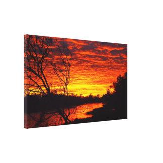Thomson River sunrise canvas print