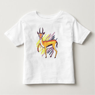 Thomson's Gazelle Colourful Drawing Todder Shirt