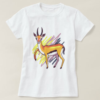 Thomson's Gazelle Fun Colourful Drawing T-Shirt