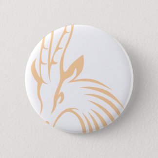 Thomson's Gazelle in Swish Drawing Style 2 Inch Round Button