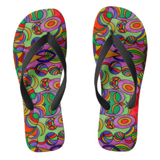 thongs - flip flops - you curve and circle