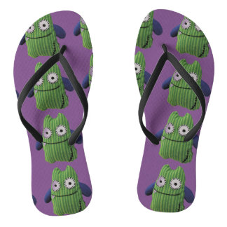 Thongs of green monstruitos in and lilacs