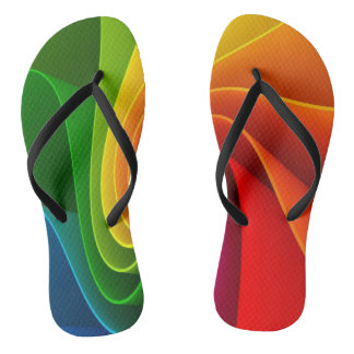 Thongs spiral colorful
