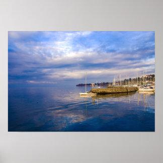 Thonon-les-bains on Lake Geneva Poster