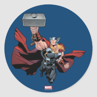 Thor Assemble Classic Round Sticker