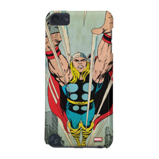 Thor Flying Through City Comic Panel iPod Touch (5th Generation) Cover