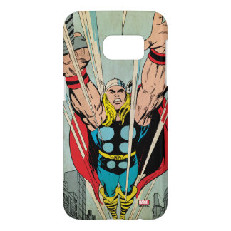 Thor Flying Through City Comic Panel Samsung Galaxy S7 Case