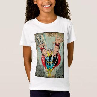Thor Flying Through City Comic Panel Tshirts