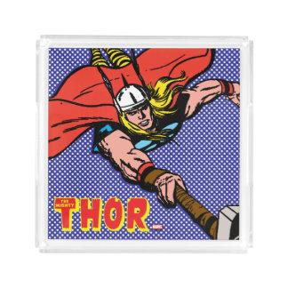 Thor Flying With Mjolnir Acrylic Tray