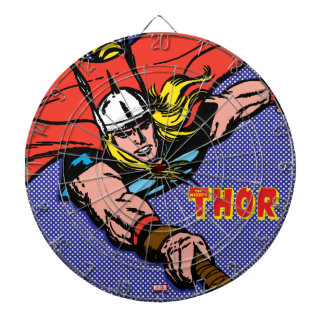 Thor Flying With Mjolnir Dart Boards