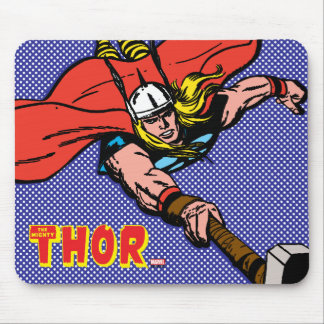 Thor Flying With Mjolnir Mouse Pad