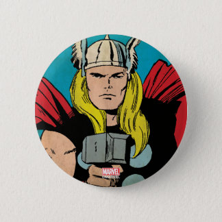 "Thor ""God of Thunder"" Comic Panel 2 Inch Round Button"