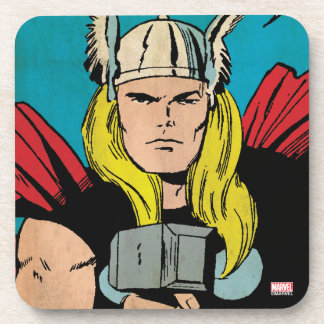 "Thor ""God of Thunder"" Comic Panel Beverage Coaster"