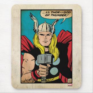 "Thor ""God of Thunder"" Comic Panel Mouse Pad"
