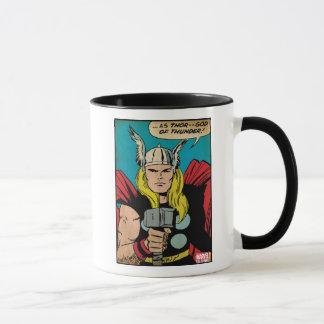 """Thor """"God of Thunder"""" Comic Panel Mug"""