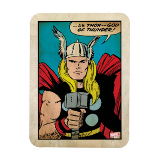 "Thor ""God of Thunder"" Comic Panel Rectangular Photo Magnet"