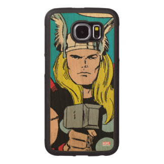 """Thor """"God of Thunder"""" Comic Panel Wood Phone Case"""