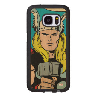 "Thor ""God of Thunder"" Comic Panel Wood Samsung Galaxy S7 Case"