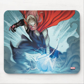 Thor Hammer Comic Panel Mouse Pad