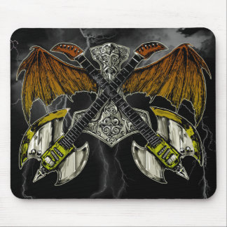 Thor Hammer of the Gods Guitars Mouse Pad