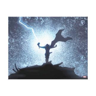 Thor Lightning Comic Panel Canvas Print