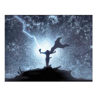 Thor Lightning Comic Panel Postcard