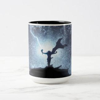 Thor Lightning Comic Panel Two-Tone Coffee Mug