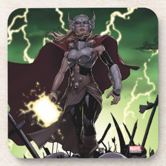 Thor Over Slain Enemies Beverage Coaster