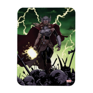Thor Over Slain Enemies Rectangular Photo Magnet