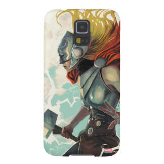 Thor Profile With Mjolnir Galaxy S5 Cases
