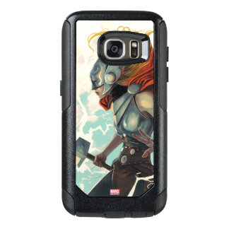 Thor Profile With Mjolnir OtterBox Samsung Galaxy S7 Case